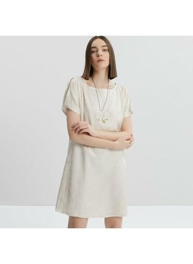 Yargıcı Kadın Sirt Detayli Elbise 9KKEL7120X Bej